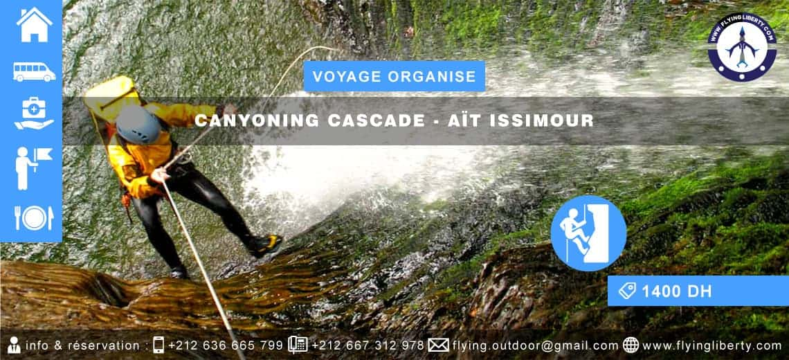 VOYAGE ORGANISE – Canyoning Cascade > AÏT ISSIMOUR