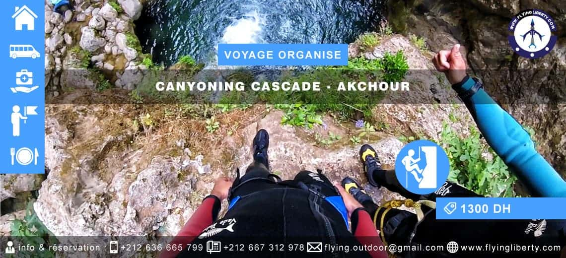 VOYAGE ORGANISÉ – Canyoning Cascade > AKCHOUR