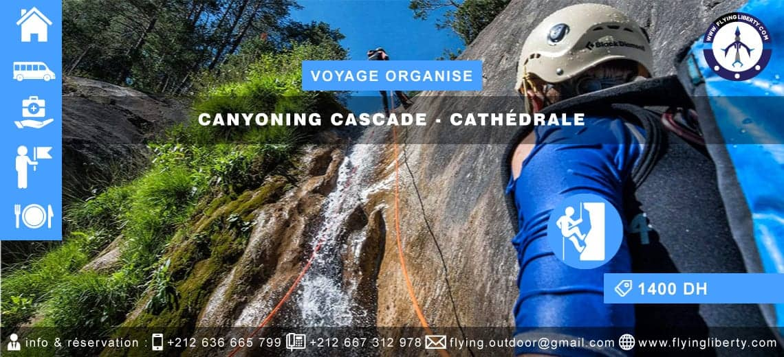 VOYAGE ORGANISÉ – Canyoning Cascade > CATHÉDRALE