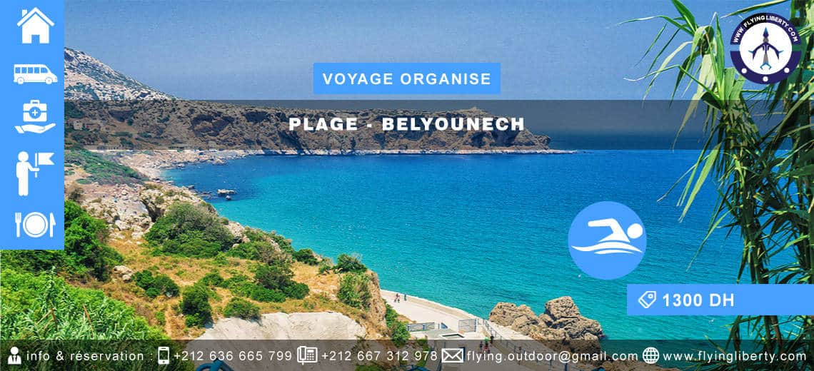 VOYAGE ORGANISE – Plage > BELYOUNECH