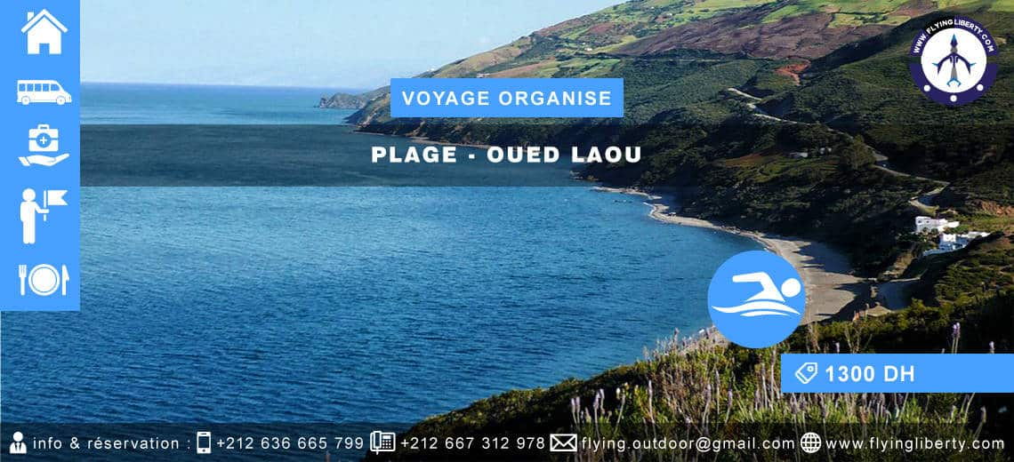 VOYAGE ORGANISE – Plage > OUED LAOU